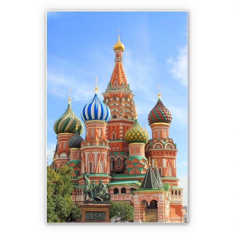 Wandbild St. Basilius Kathedrale Moskau