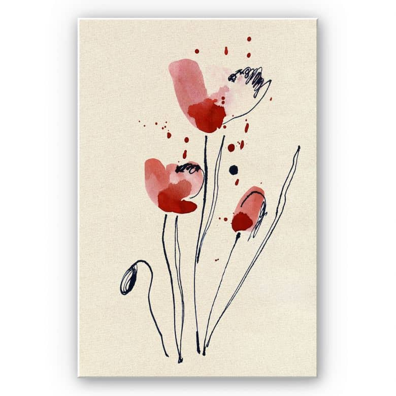 Forex print Illustrated poppy