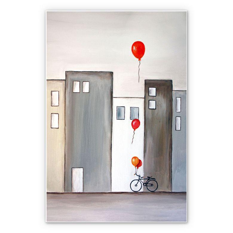 Wanddecoratie Melz - De Ballonnenverkoper