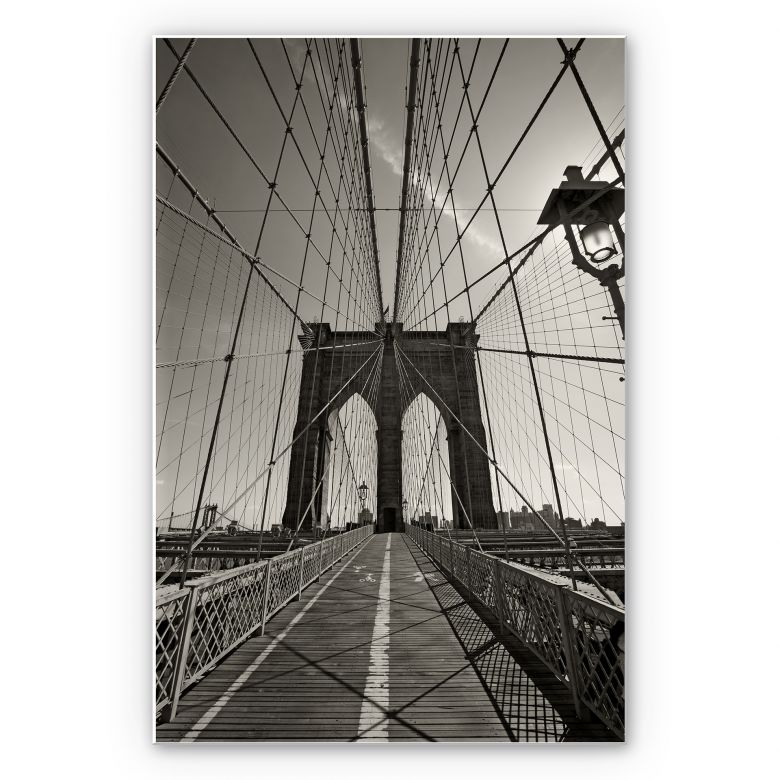 Wandbild Brooklyn Bridge Perspektive