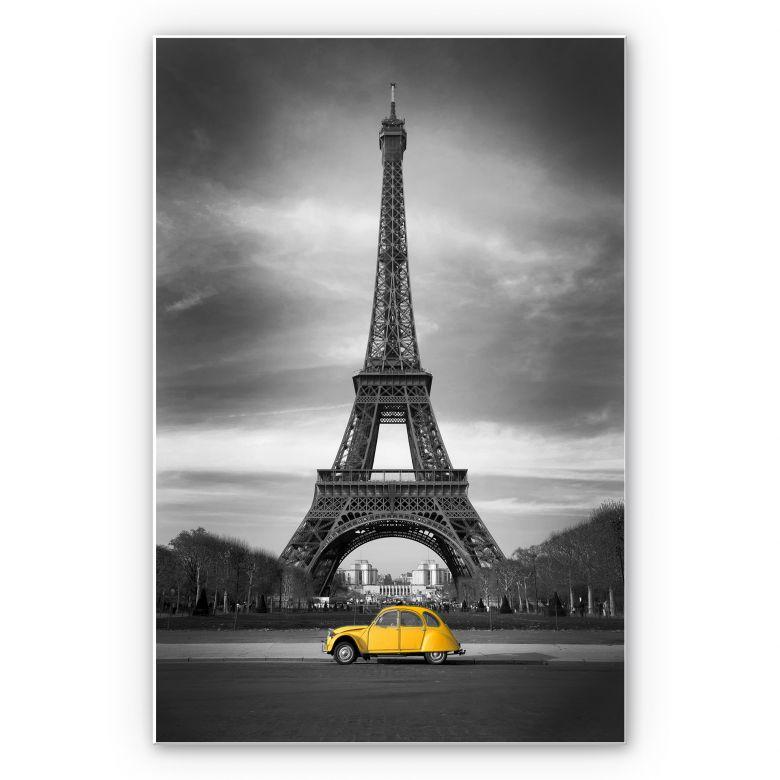 Wandbild La Vie est Belle - gelb