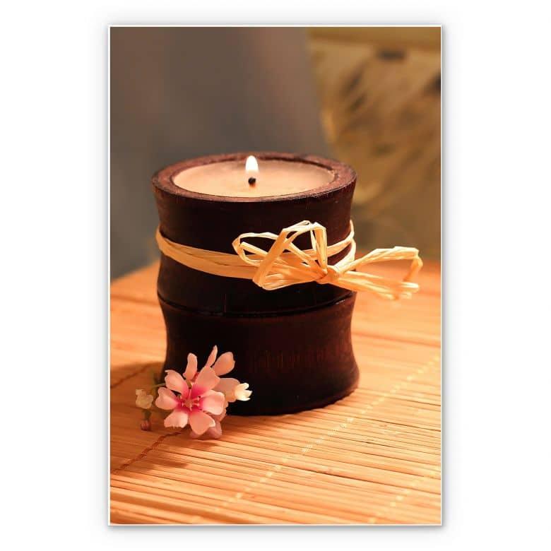 Wandbild Wellness Candle