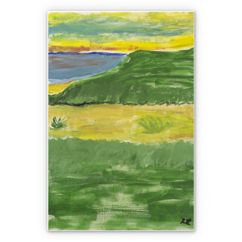 Wandbild Lohrentz - Landschaftsmalerei
