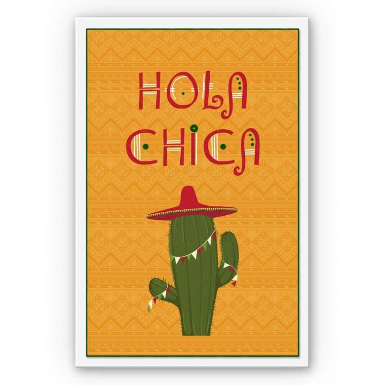 Wandbild Hola Chica