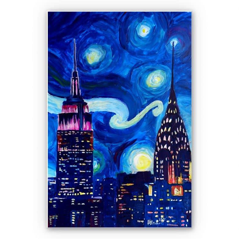 Wandbild Bleichner - New York bei Nacht