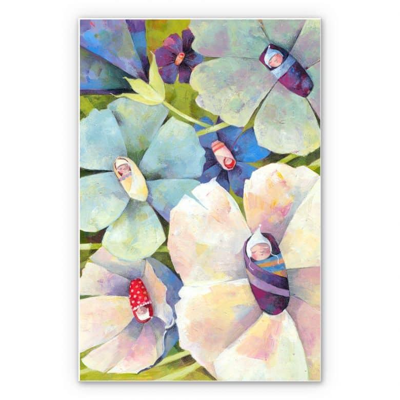 Wandbild Blanz - Blütenbabies