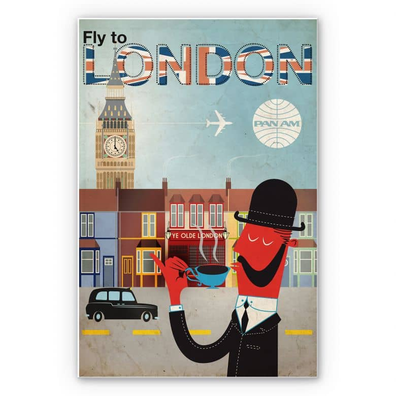 Wandbild PAN AM - Fly to London