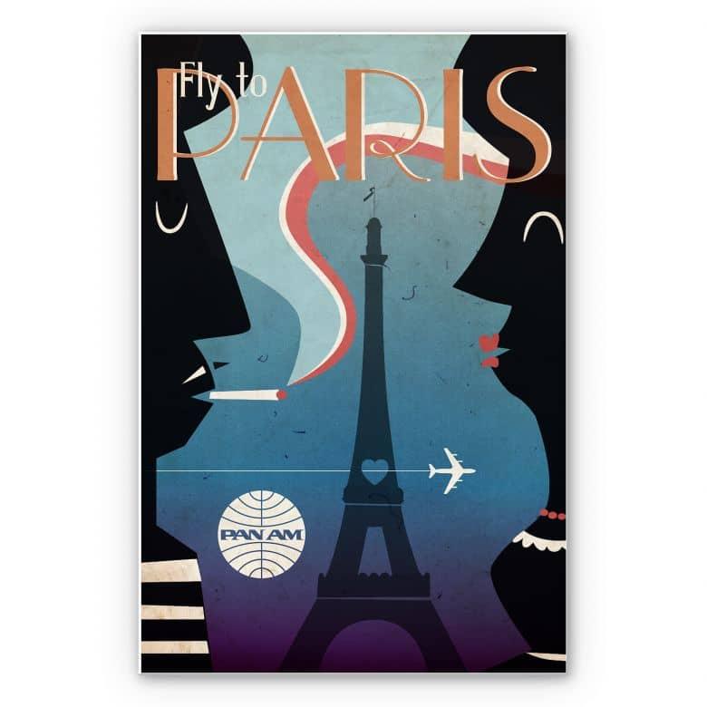 Wandbild PAN AM - Fly to Paris