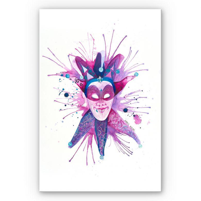 Wandbild Buttafly - Mardi Gras Mask