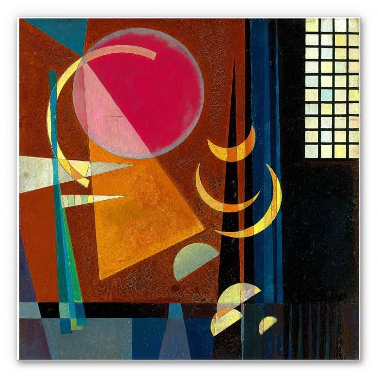 Wandbild Kandinsky - Scharf und ruhig