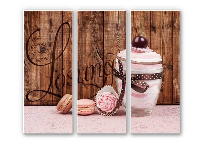3 teiliges hartschaum set kein kuchen ist auch keine l sung 3 teilig wall - Wandbilder kuchenmotive ...