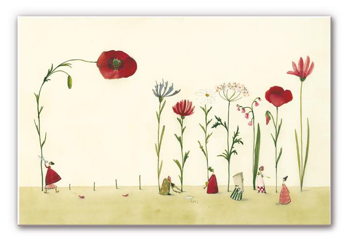 Wandbild Leffler - Blumensamen