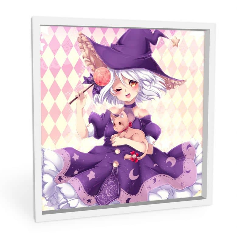 Wandbild La Doll Blanche - Little Witch