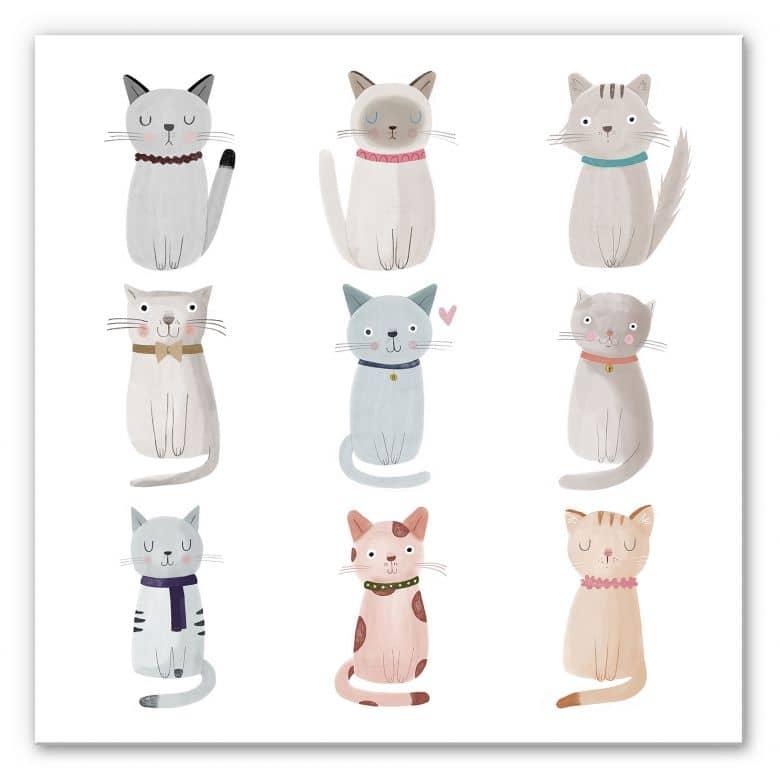 Wandbild Loske - Cat Family