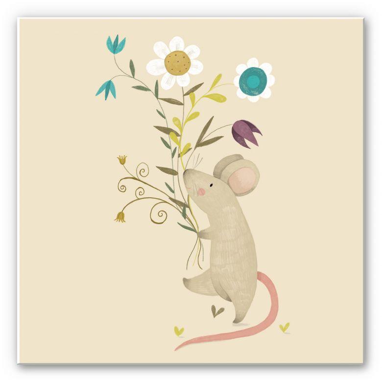 Wandbild Loske - Kleine Maus