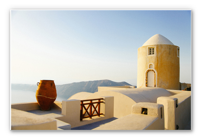 Wandbild Mediterrane Aussicht