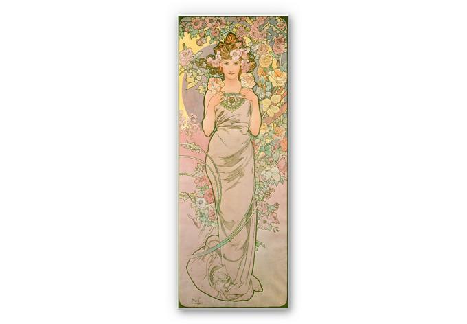 Wandbild Mucha - Die Rose