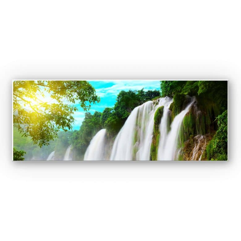 Wandbild Blaue Lagune - Panorama