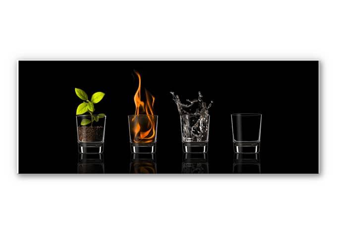 Wandbild Frutos Vargas - The Four Elements - Panorama