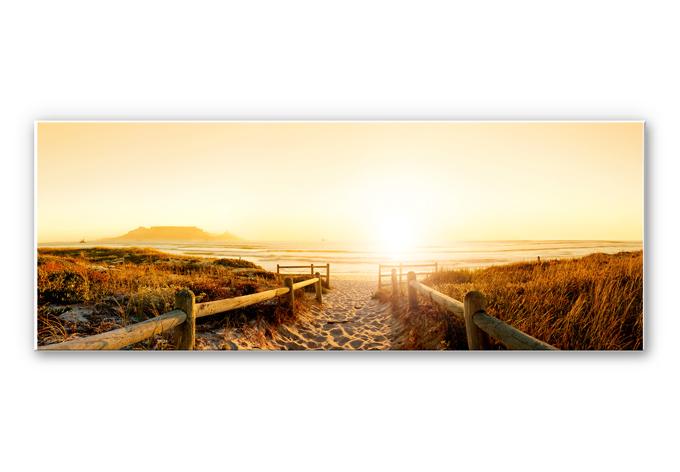 Wandbild Sunset at the Beach - Panorama