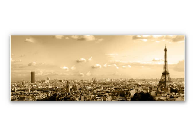 Wanddecoratie Parijs Skyline - Panorama