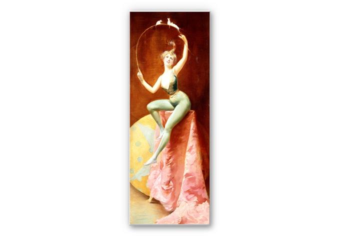 Wandbild Penot - Tänzerin mit drei weißen Mäusen