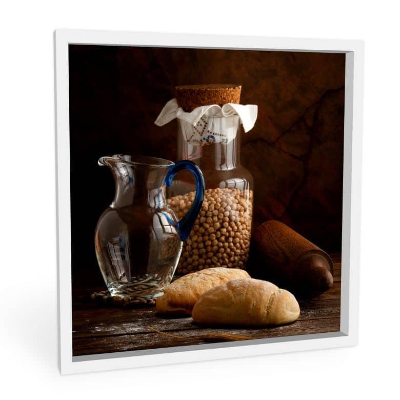 Wanddecoratie Laercio - Italian Breads - Vierkant