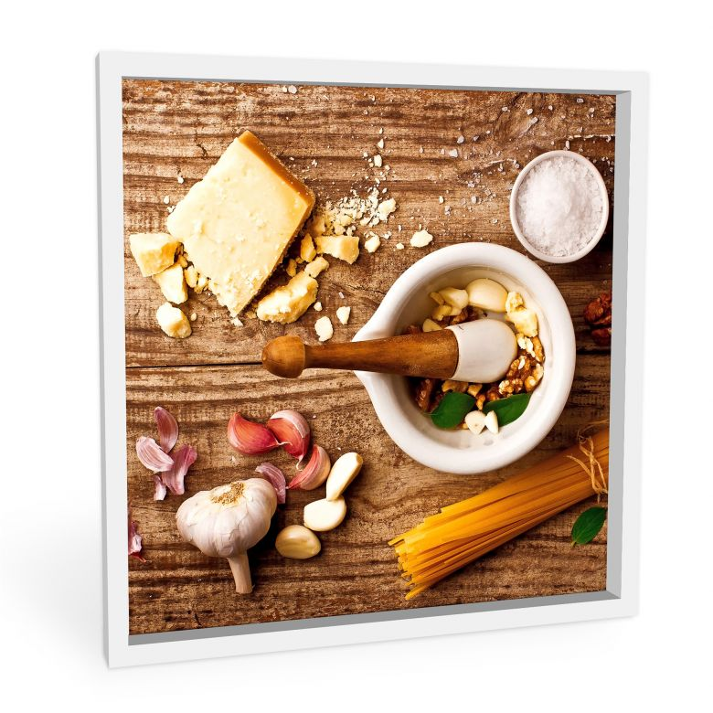 Wandbild Laercio - Pesto Rezept - quadratisch