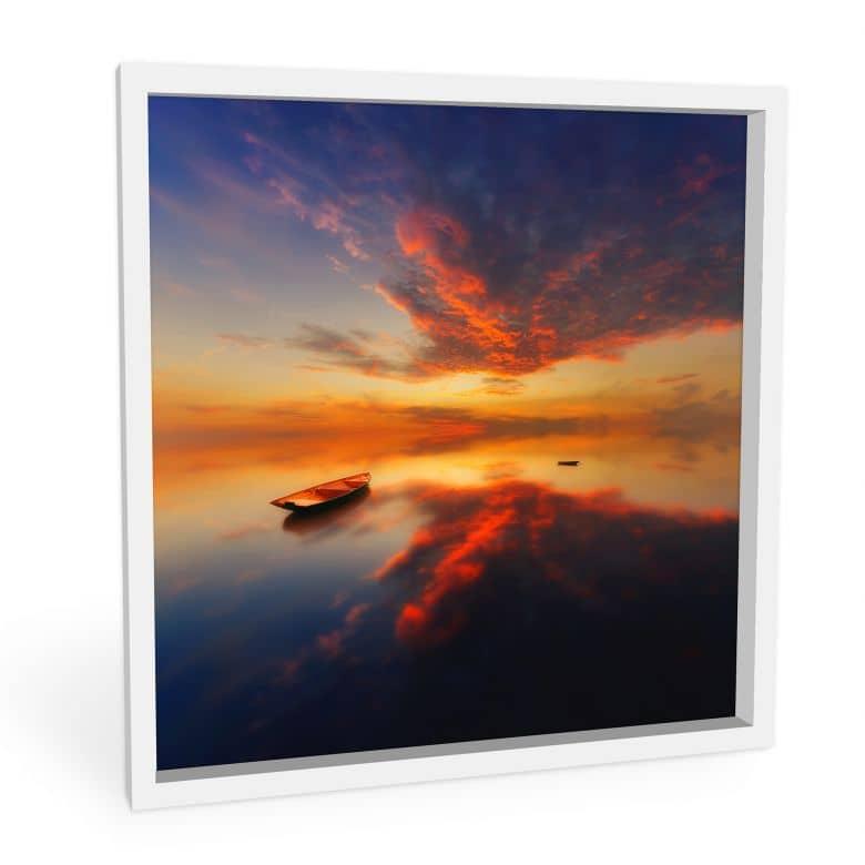 Wandbild Krol - Ein leuchtender Sonnenuntergang - quadratisch