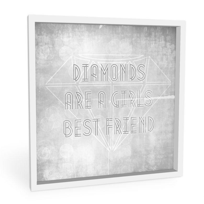Wandbild Diamonds are a Girls best Friend