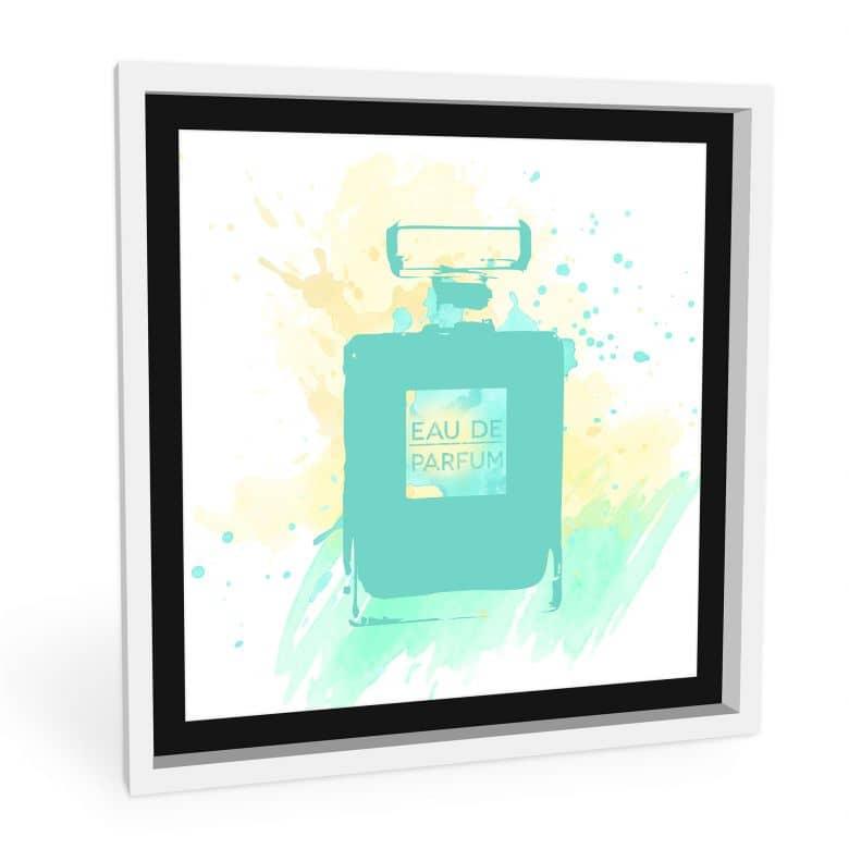 Hartschaum-Wandbild Eau de Parfum Aquarell - Mint | wall-art.de