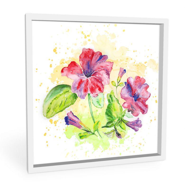 Wandbild Toetzke - Leuchtender Blütenkelch - quadratisch