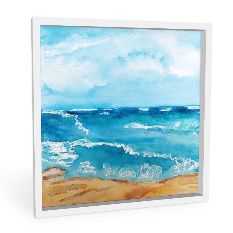 Wandbild Toetzke - Meeresrausch - quadratisch