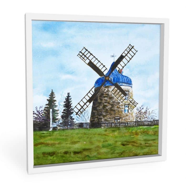 Wandbild Toetzke - Traditionelle Windmühle - quadratisch