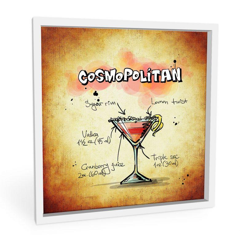 Wandbild Cosmopolitan - Rezept