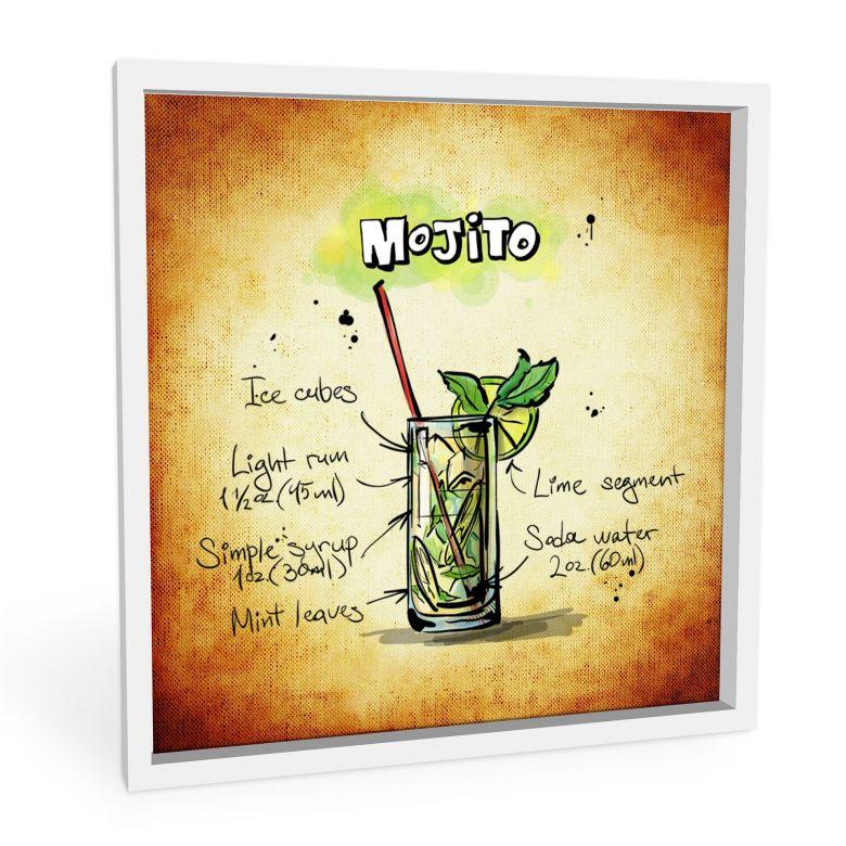 Wandbild Mojito - Rezept