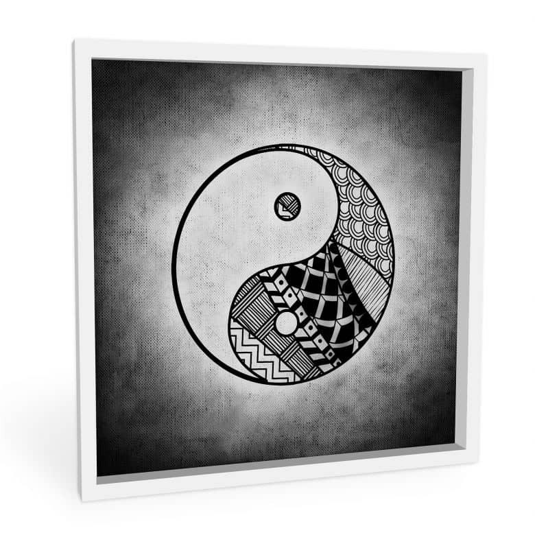 Wandbild Yin und Yang - quadratisch