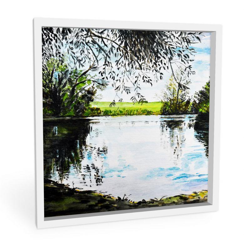 Wandbild Toetzke - Teich im Grünen