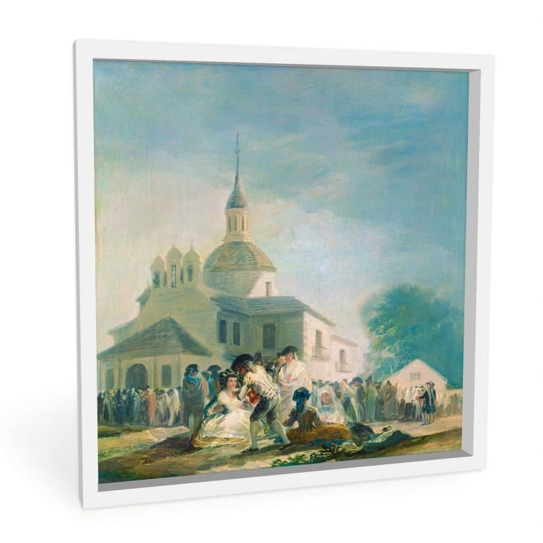 Wandbild de Goya - Die Einsiedelei des hl. Isidor