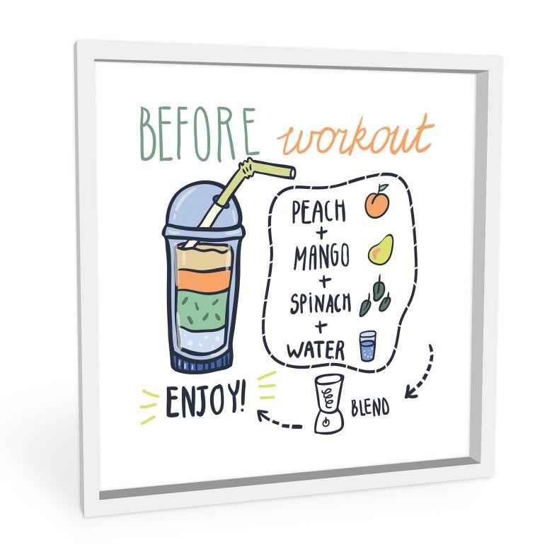 Wandbild Before Workout - quadratisch