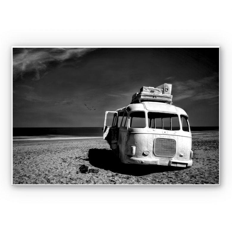 Wandbild Depaepe - Beached Bus