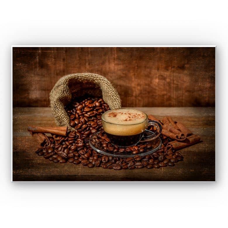 Wandbild Perfoncio - Kaffee rustikal