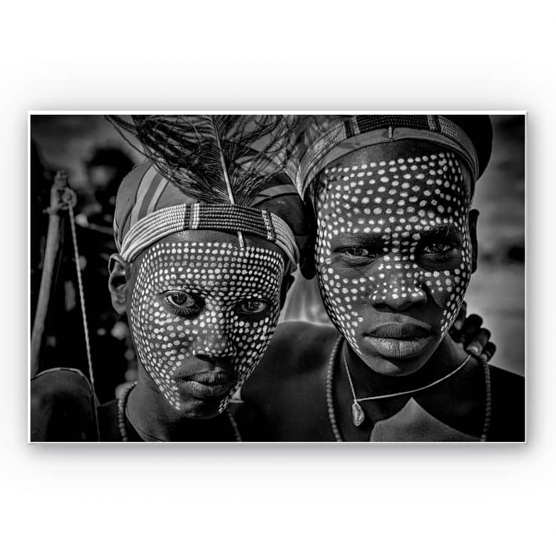 Forex print Kuesta - portrait of the tribe, Abore