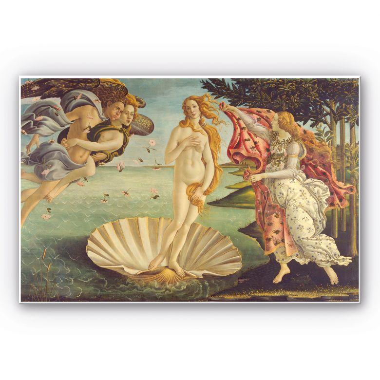 Wandbild Botticelli - Geburt der Venus