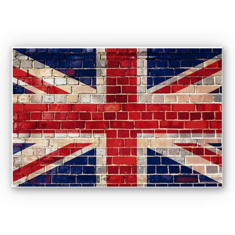 Wandbild Union Jack Mauer