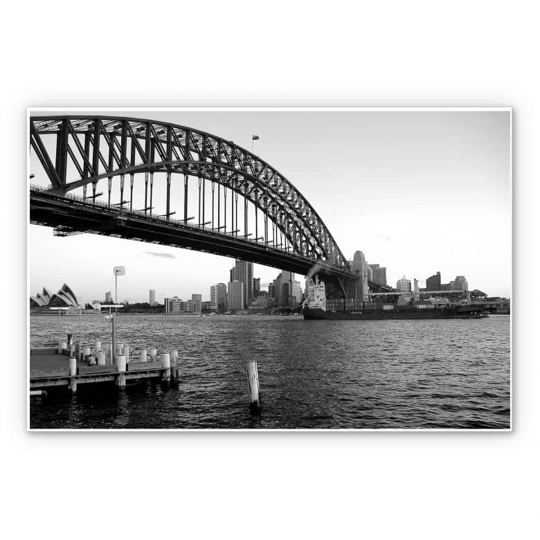 Hartschaum-Wandbild Sydney Harbour Bridge | wall-art.de