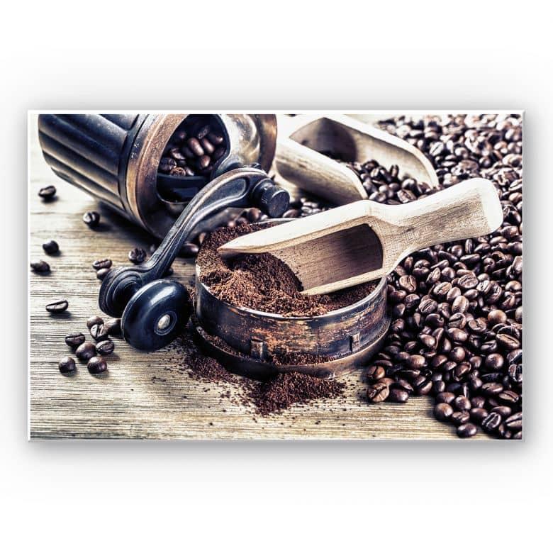Wandbild Kaffeeduft