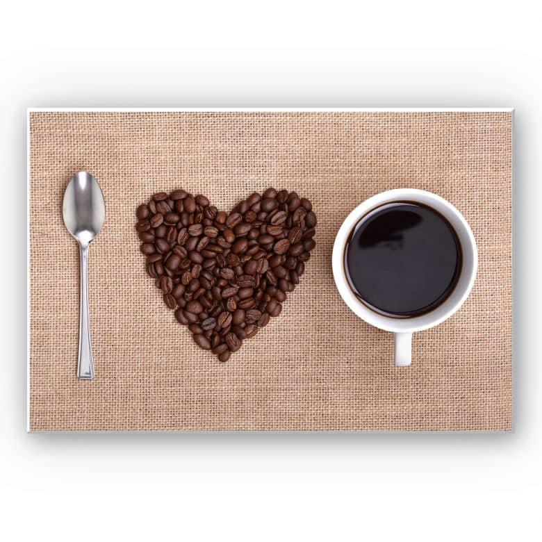 Wandbild I love Coffee