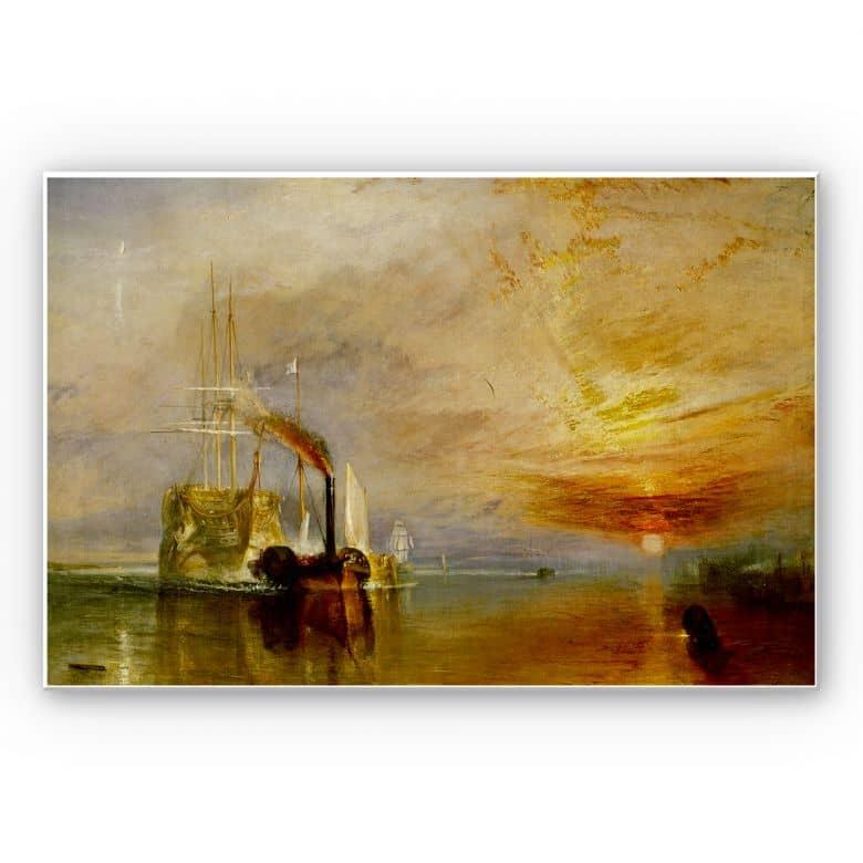 Wandbild Turner - Die Temeraire an ihrem letzten Ankerplatz