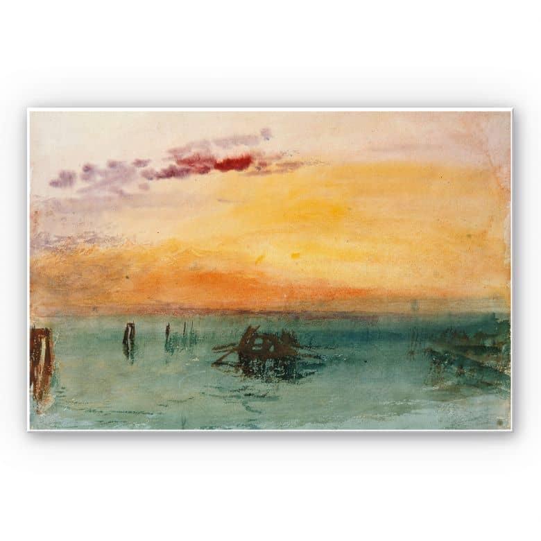 Wandbild Turner - Venedig von Fusina aus gesehen